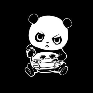 Gamer Panda Schlafen Pew Süchtig lustig Geschenke