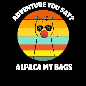 Alpaka LLama Spucken Wortspiel Abenteuer Geschenk
