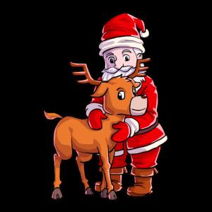 Weihnachtsmann Weihnachten Rentier