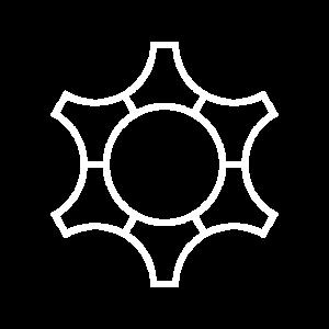 Zahnrad, Abstrakt - Weiss