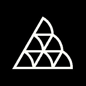 Dreiecke fliegen in den Süden - Weiß