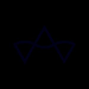 Gebogener Pfeil, Abstrakt - Schwarz