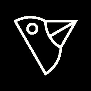 Vogelkopf Abstrakt - Weiß