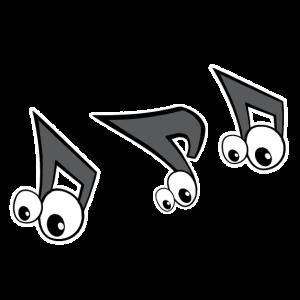 lustige Musiknote, Spaß, Hobby, Instrument Strophe