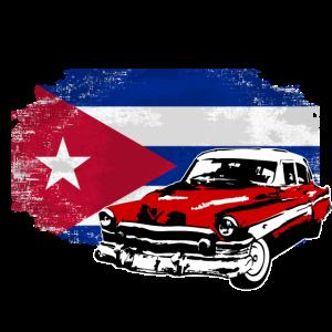 Oldtimer - Cuba Vintage Flag