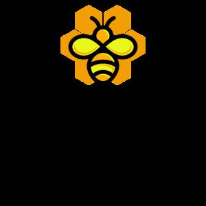 Bee Happy Bienenmotiv Honigwaben