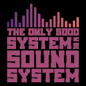 SOUND SYSTEM Tontechniker Toningenieur Geschenk