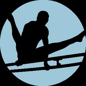 gymnastik parallel bar sport logo 3