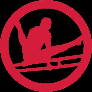 parallel bar gymnastik sport logo 2
