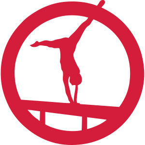strahl gymnastik figur logo