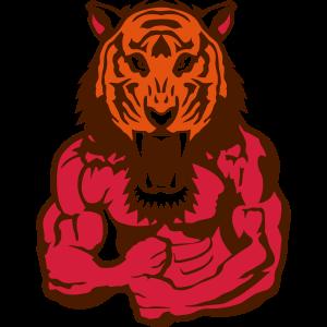 tiger koerper bodybuilding design