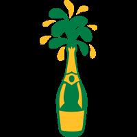 champagner flasche splash alkohol trinken