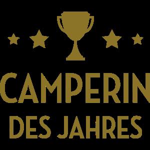 Camper Camperin Camping Wohnmobil Wohnwagen Zelt