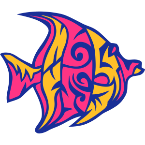 1107 exotischen stammesfisch