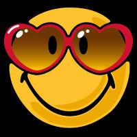 Smiley heart glasses