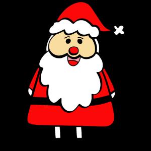 Santa Doodle Color Weihnachten Weihnachtsmann Wint
