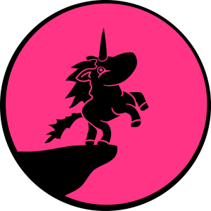 pink mond nacht sonne klippe sprung einhorn pink m
