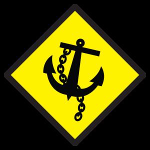 Warnschild Anker