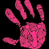 cheerleader fussabdruck hand 1110
