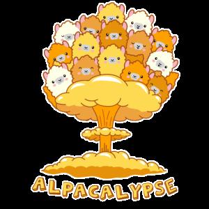 Alpacalypse lustiges Geschenk für Alpaka Lama Fans