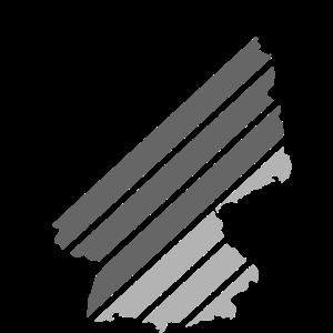 Deutschland Kontur Karte Map Schwarz