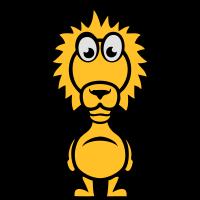 lustige loewe cartoonfigur in 1110