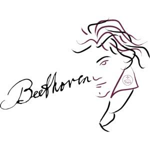 Beethoven (aubergine/schwarz)