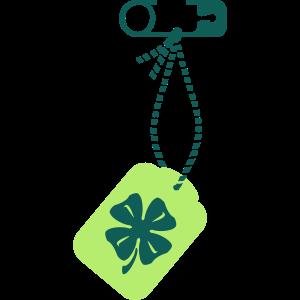 St Patty Kleeblatt-Etikett / lucky charm clover 2c