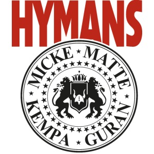 Hymans Red White Black logo