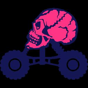 monstertruck tod kopf schaedel profil
