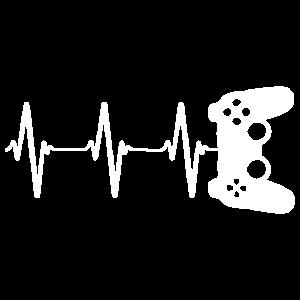 Zocker Gamer Herzschlag Geschenk