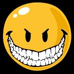 Smiley evil grin