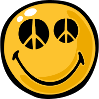 Smiley peace eyes