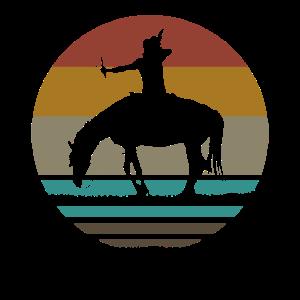 Retro Indianer Pferd Pfeil und Bogen Geschenk