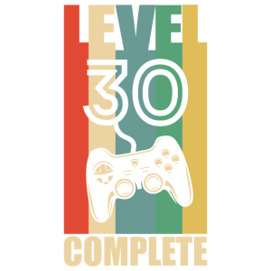 30 Geburtstag Geschenk Level 30
