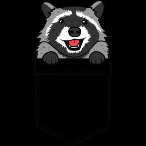 Raccoon Taschen Waschbär Poket Animal Pet