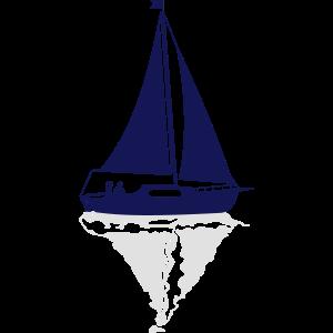 Segelboot Spiegelung