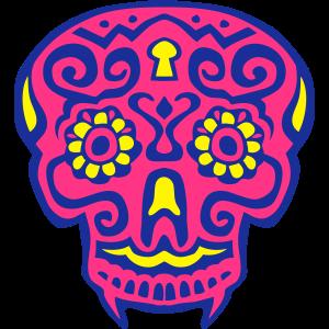 mexikanische schaedel deadhead 124