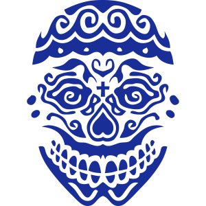 mexikanische schaedel 123 deadhead