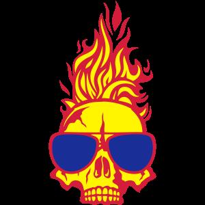 luenette schaedel flamme 1206
