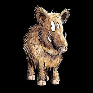 Cooles Wildschwein für Freunde der wilden Wutzchen