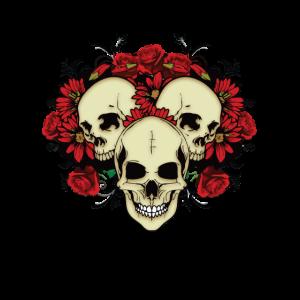 GOTHIC Skull Roses
