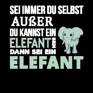 Elefant Elefanten Spruch Geschenk
