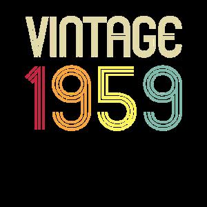 1959 60. Geburtstag Retro Vintage Geschenk