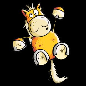 Fuchs Pferd hängt ab