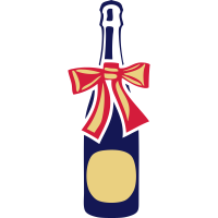 champagner flasche geschenk knoten