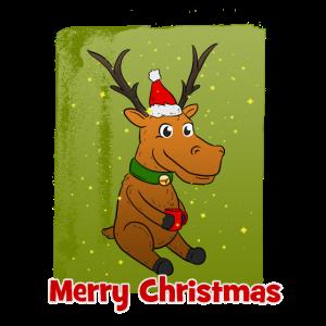 Merry Christmas Rentier Weihnachten Xmas