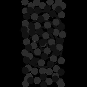 Abstrakte Kunst Punkte spiral Konstellation