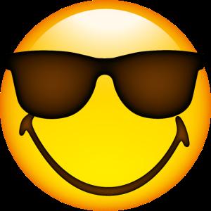 Smiley Glossy Sunglasses