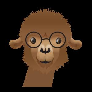 Alpaka in süßen Gläsern